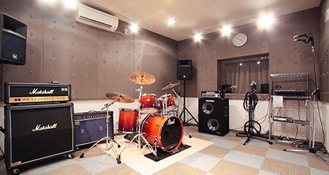 8つの、練習室&バンドスタジオ